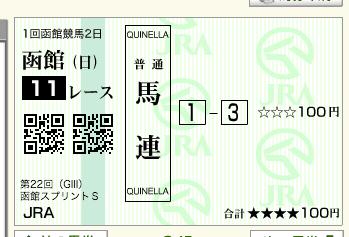 第22回 函館スプリントステークス(GⅢ)