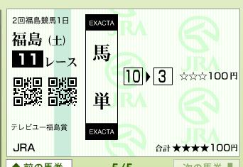 福島11R テレビユー福島賞