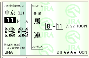 11R 第63回 トヨタ賞中京記念(GⅢ)