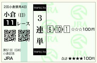 第51回 農林水産省賞典小倉記念(GⅢ)