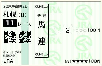 第51回 札幌記念(GⅡ)