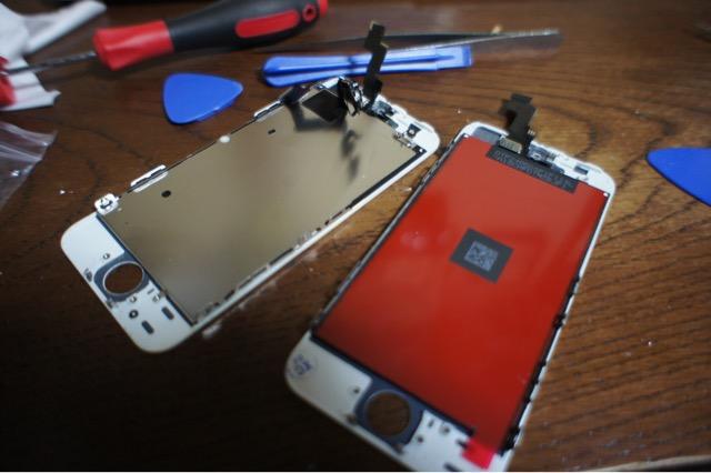 iPhone5Sモニター交換
