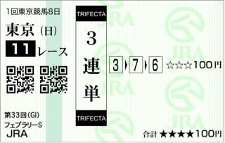 第33回 フェブラリーステークス(GI)