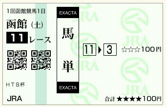 函館11R HTB杯