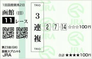第23回 函館スプリントステークス(GⅢ)