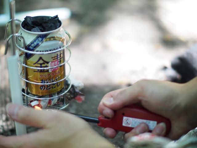 空き缶チムニースターター