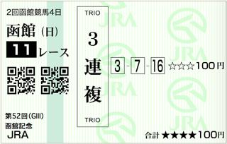 第52回 農林水産省賞典函館記念(GⅢ)