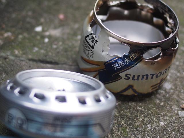 空き缶バーナー