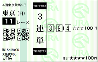 第154回 天皇賞(秋)(GI)