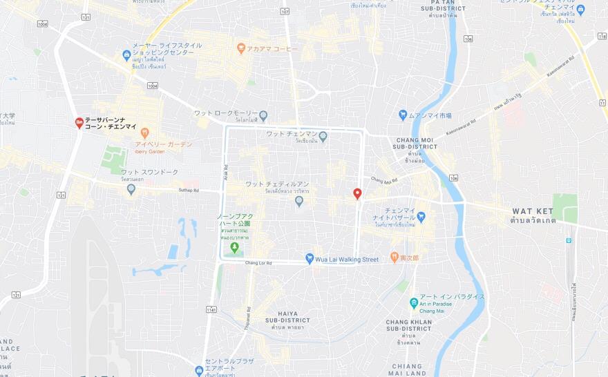 チェンマイの地図